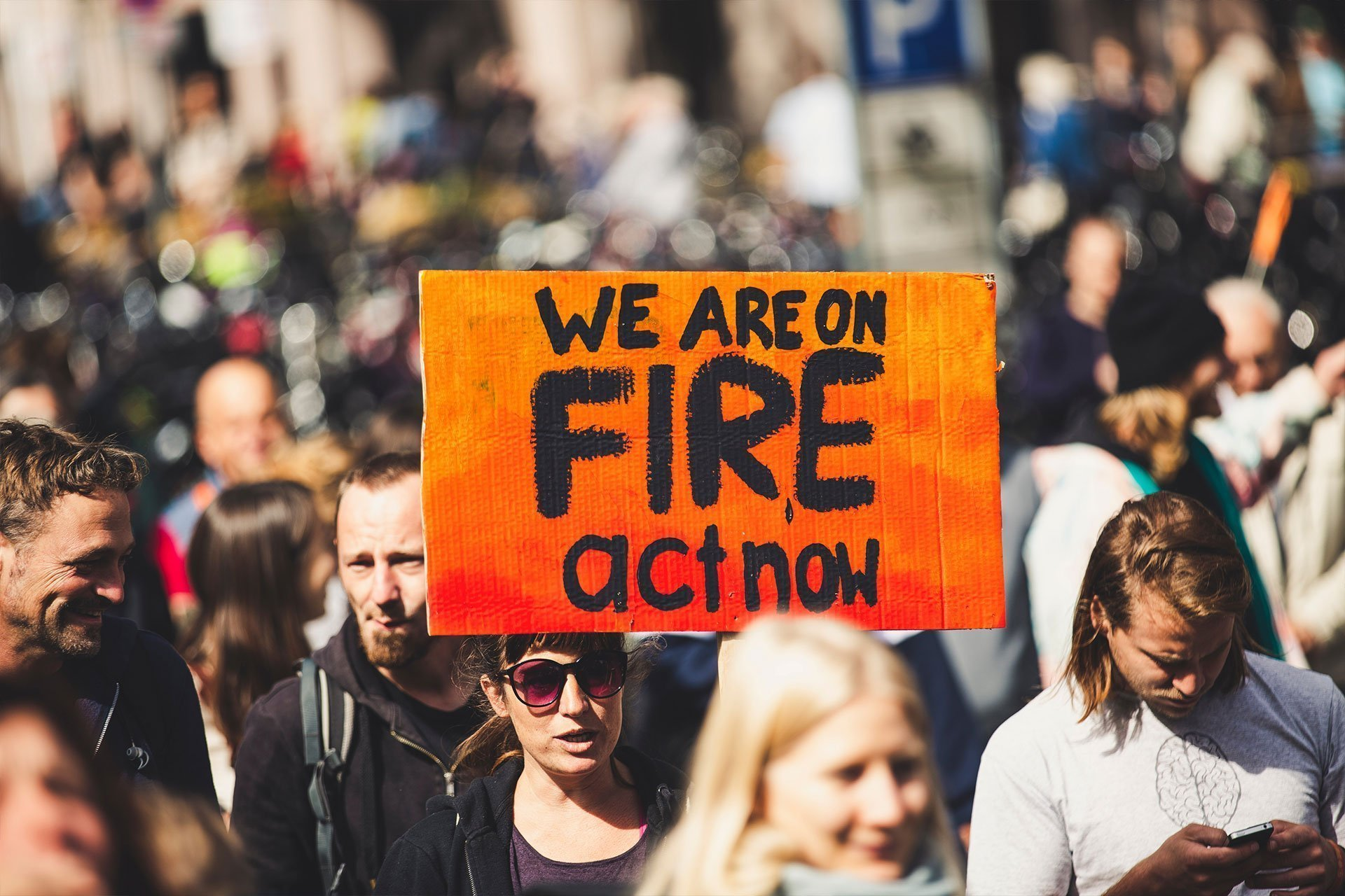 University of Seventh California climate strike: 'The world is on fire'