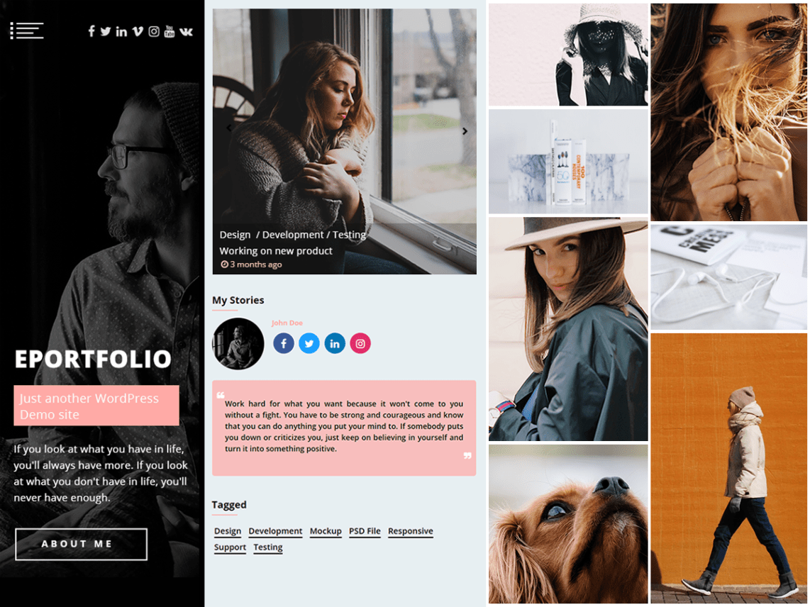 ePortfolio free multi-purpose WordPress Portfolio theme